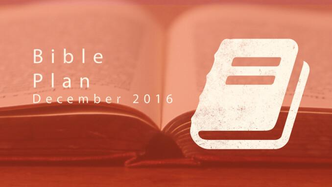 our blog december bible reading plan